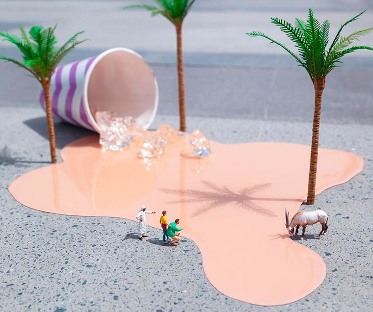 The clever miniature street art of Slinkachu lands in Dubai