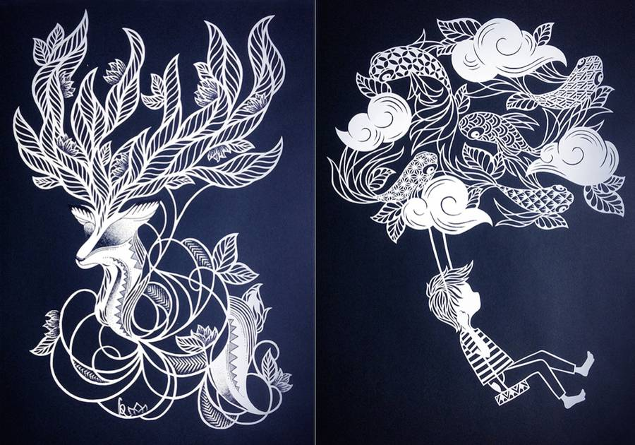 The Meticulous Paper Cuts of Karen Watanabe (10 pics)