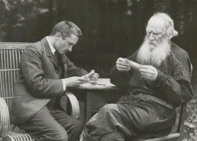Валентин Булгаков и Лев Толстой