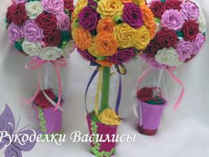 топиарий, цветы из бумаги, топиарий своими руками, топиарий из роз, топиарий из бумажных роз, творчество, сувениры, ручная работа, подарки, праздник, оригинальные подарки, интерьерная композиция, европейское дерево, дерево счастья, handwork, handmade