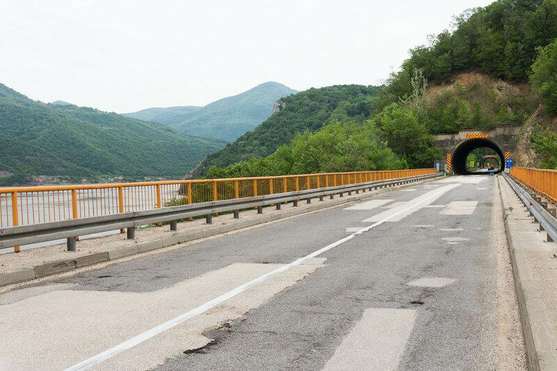 шоссе 34 вдоль Дуная, сербия