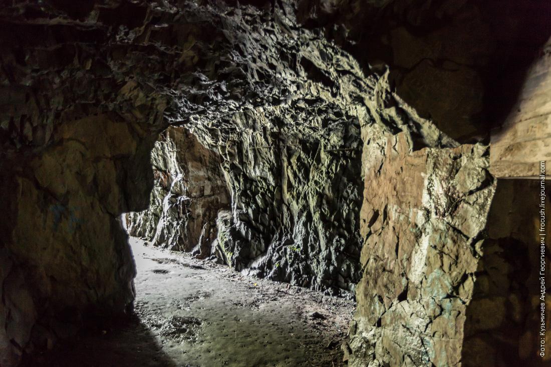 карелия финская выдолбленная в скале казарма