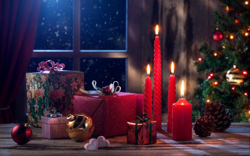 Новый год, новогодние свечи, подарки, сказка, зима