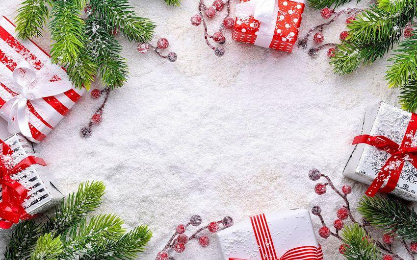 Новогодние фоны, подарки