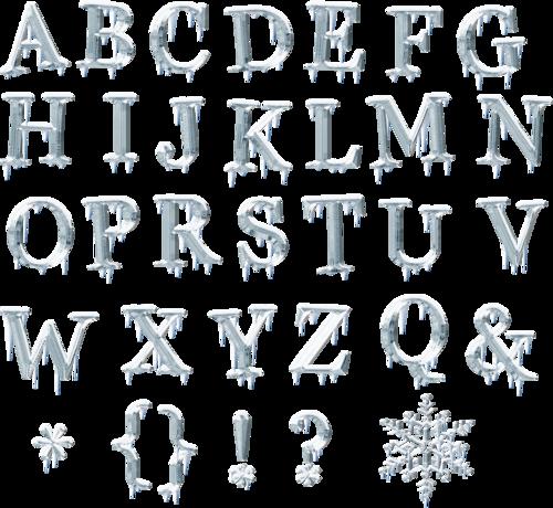 зимние буквы