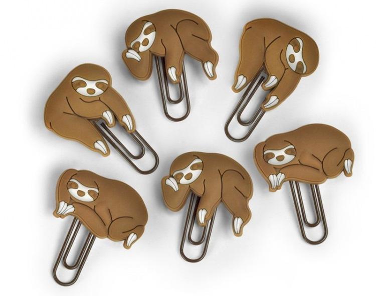 1. Скрепки-ленивцы