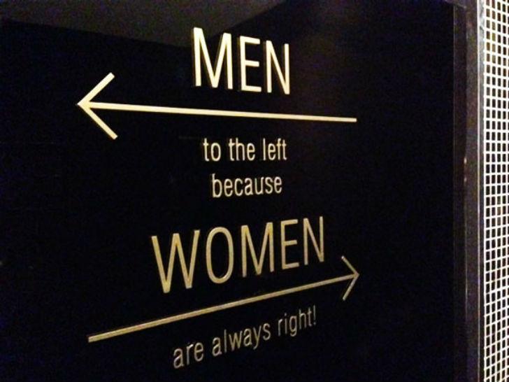 «Мужчинам налево, потому что женщины всегда правы».