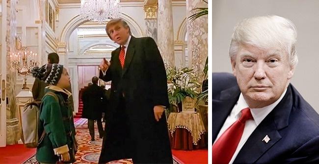 Дональд Трамп, «Один дома — 2» Помните сцену, в которой Кевин впервые попадает в роскошный нью-йоркс