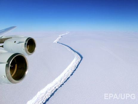 Айсберг площадью 5 тыс. кв. кмвот-вот отколется отантарктических льдов