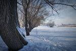 Лыжня на окраине города