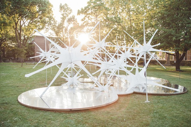 White Enlightened Sky Pavilion Installation