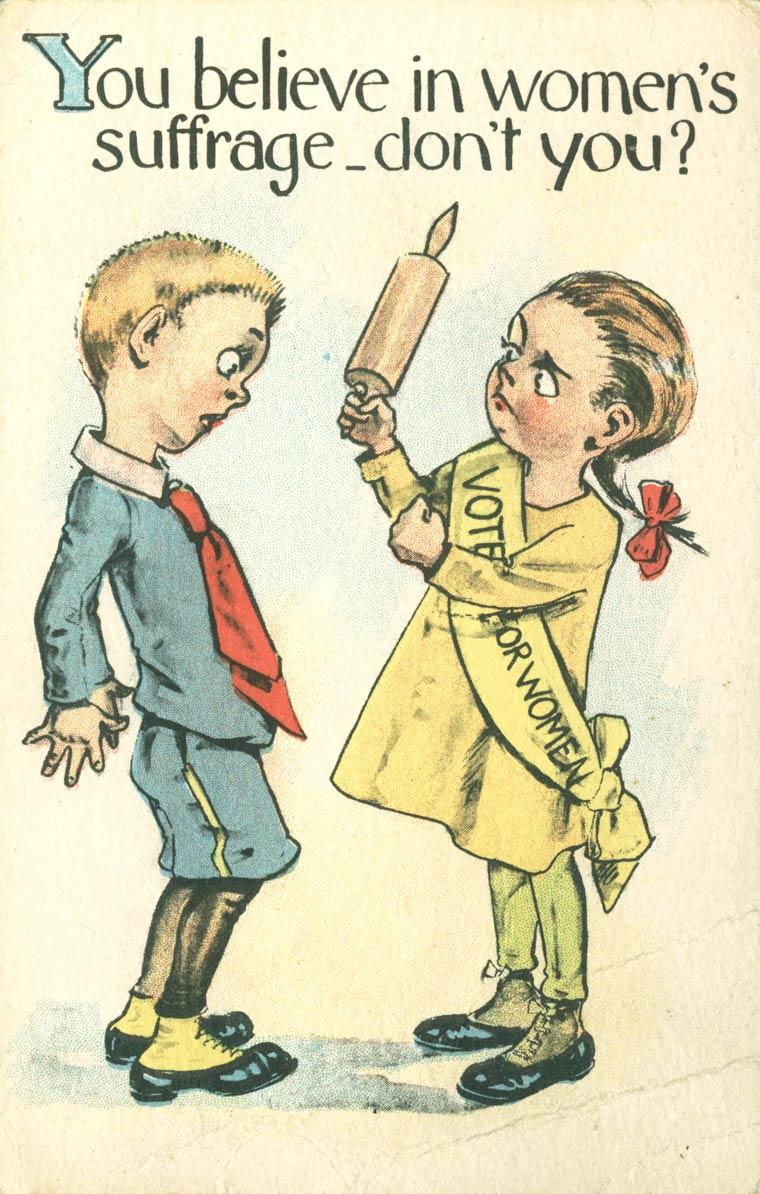 L'incroyable propagande contre le vote des femmes des annees 1900 - 1914