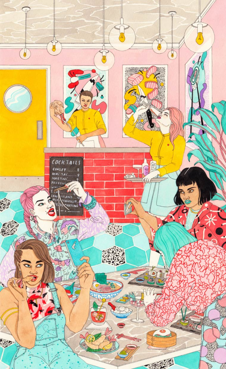 Les illustrations colorees de Laura Callaghan