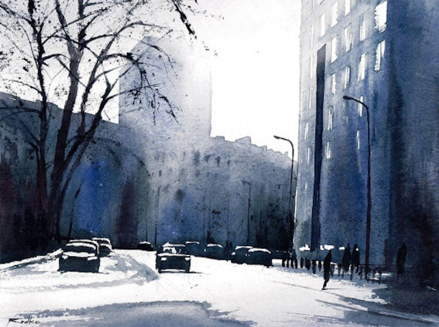 Beautiful Watercolor Cityscapes by Rafal Rudko
