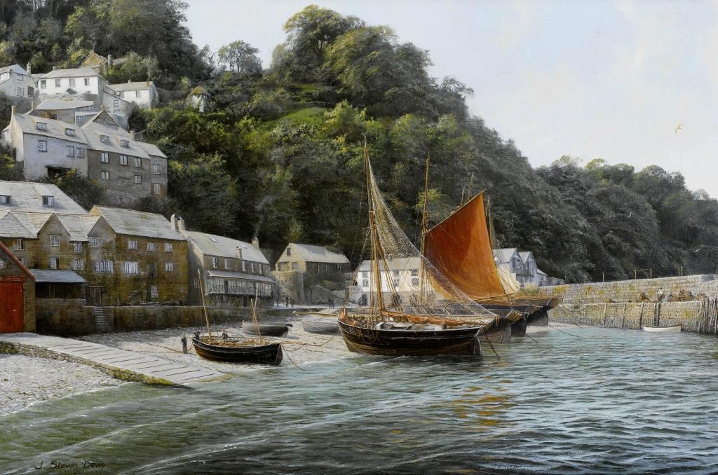 Сельдяной флот в Кловелли, северный Девон (The herring fleet at Clovelly, north Devon).jpg