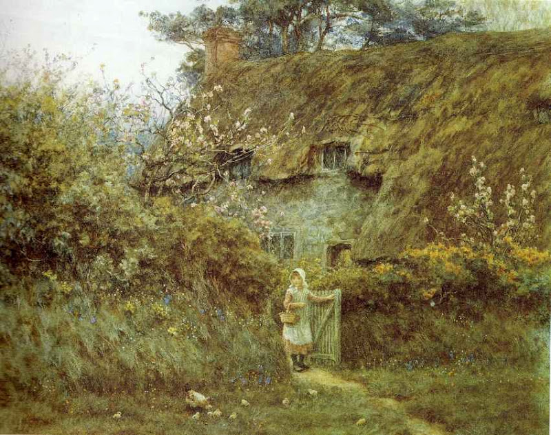 Helen Allingham - At the cottage gate.jpg