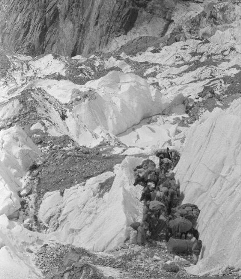 Экспедиция Маннергеймаперед подъемом на Музартский ледник