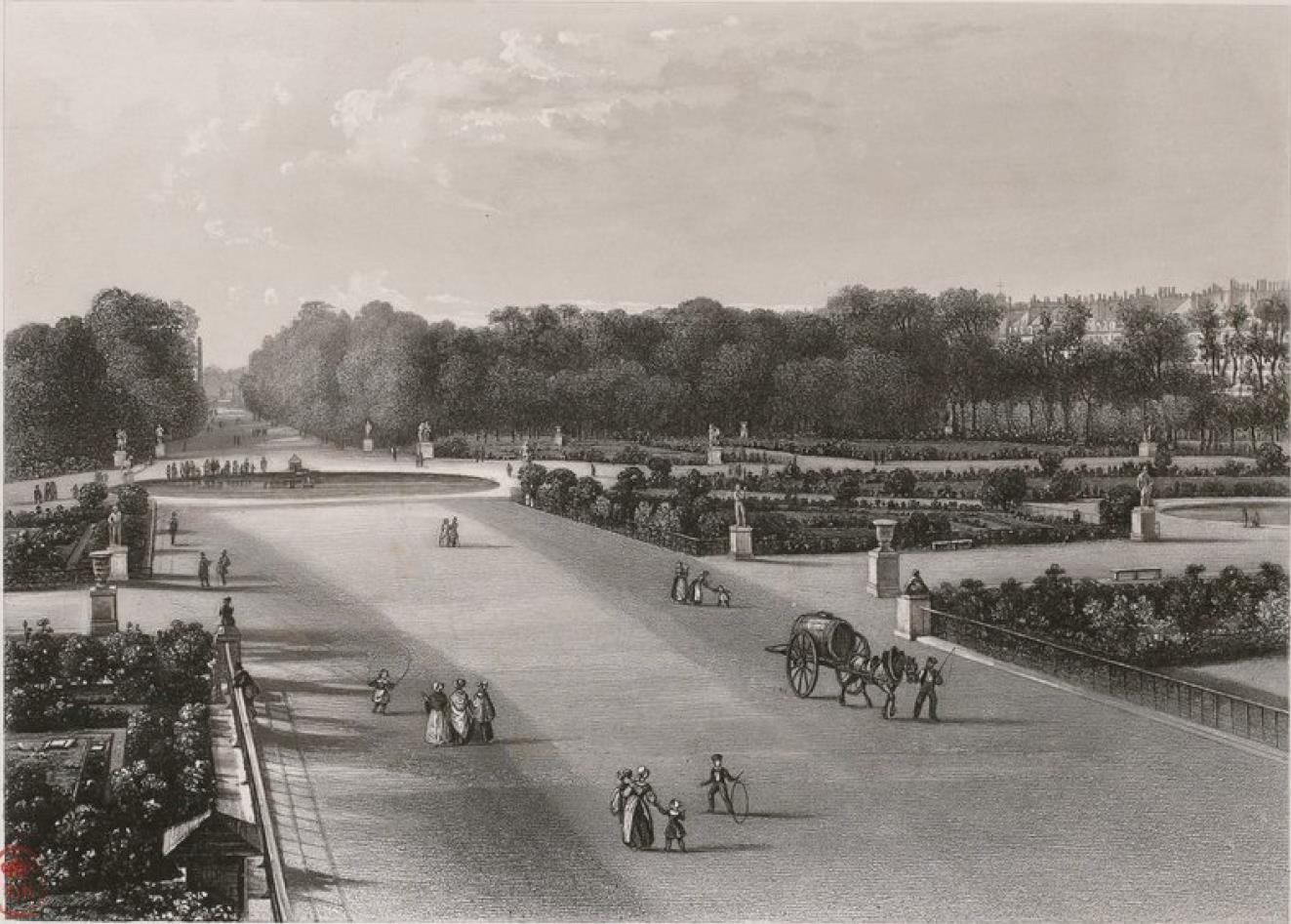 Франция. Париж.Сад Тюильри