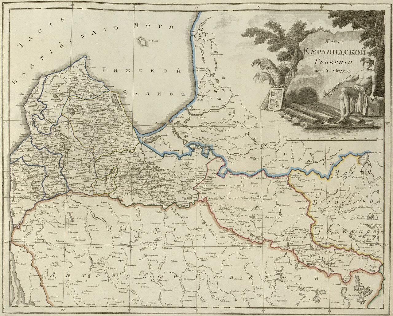 05. Карта Курляндской губернии