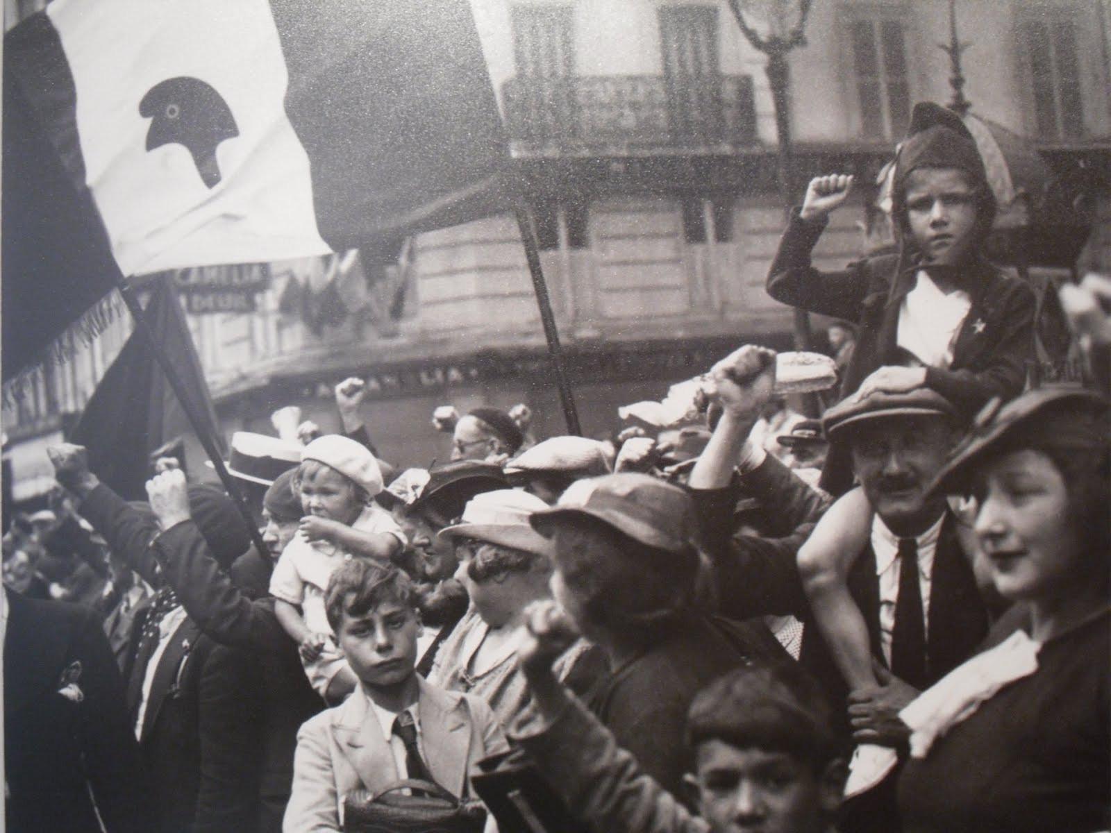 1936. Демонстрация Народного Фронта в Париже