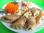 Блинчики  «Закусочные  с  сырной  начинкой»