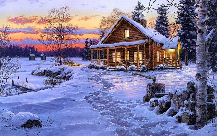 Новый год, зима, новогодние картинки, пейзаж
