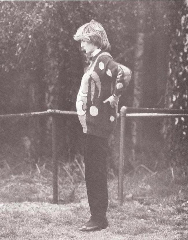 Беременная первым ребенком принцесса Диана, 1982 год.