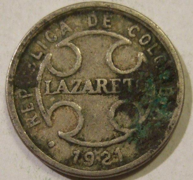 1. 50 сентаво, монета колонии прокаженных, Колумбия, 1921 год Сегодня вряд ли кто-то знает, что имен