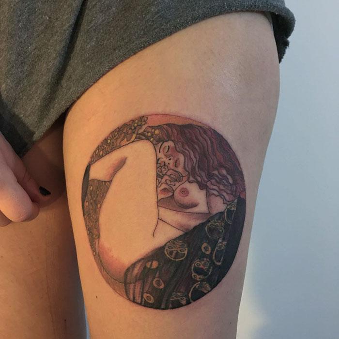 Татуировки для тех, кто в восторге от творчества Густава Климта