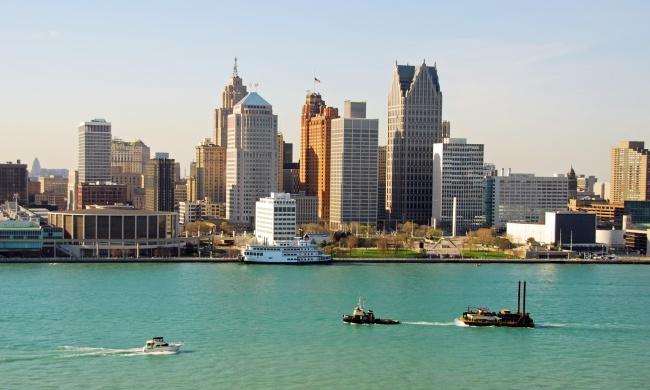 Город Детройт, штат Мичиган, США «Париж Запада», «Автомобильная столица США»… Практически оп