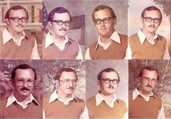 Учитель 40 лет подряд надевал один и тот же наряд для фотографирования с классом (5 фото)