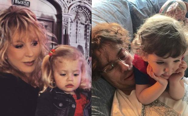 Дети Пугачевой иГалкина поздравили дочь Николаева спервым годом жизни