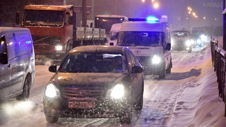Снежная буря надвигается на столицу - МЧС