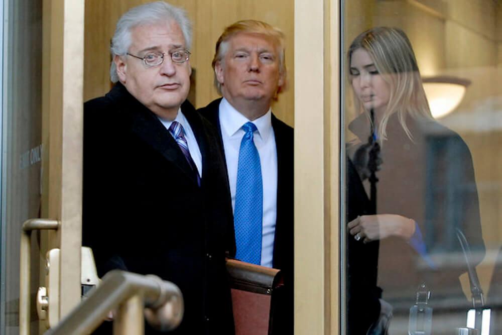 Трамп назначит своего советника Дэвида Фридмана надолжность посла США вИзраиле