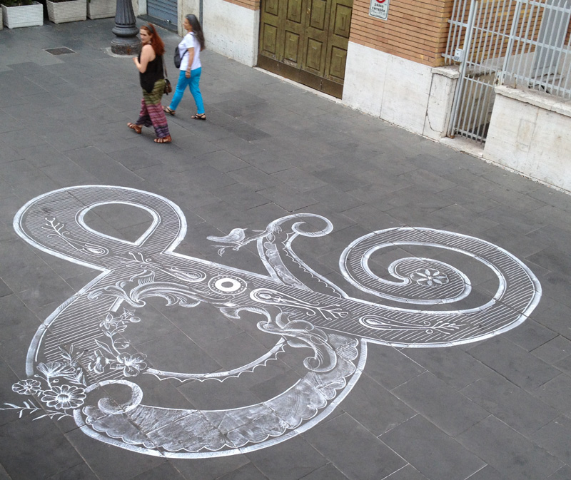 Chalk Ampersand by Tommaso Guerra (4 pics)