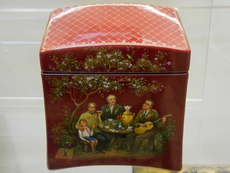 Шкатулка, Федоскинская лаковая миниатюра