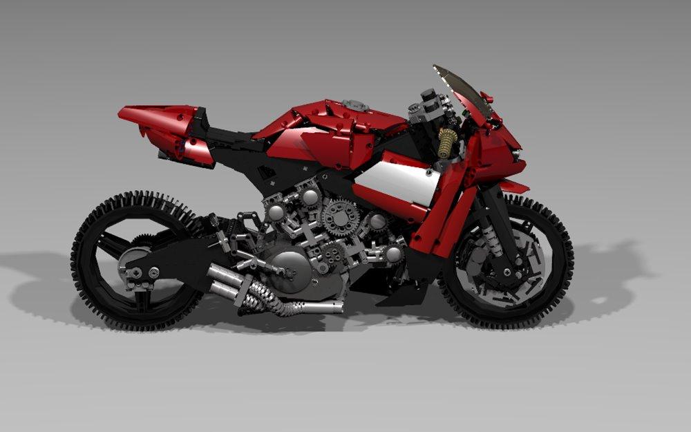 Моделька Lego Ducati V4