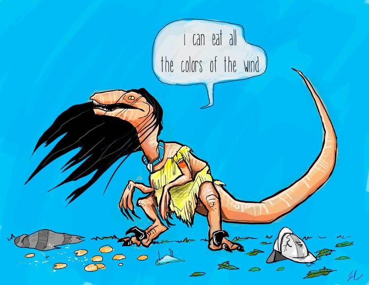 Jurassic Princess - The Disney Princesses reimagined as velociraptors…