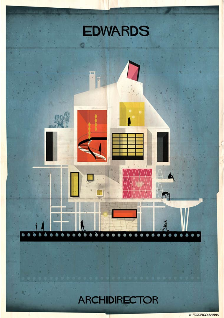 Archidirector - An illustrator imagines the houses of famous directors