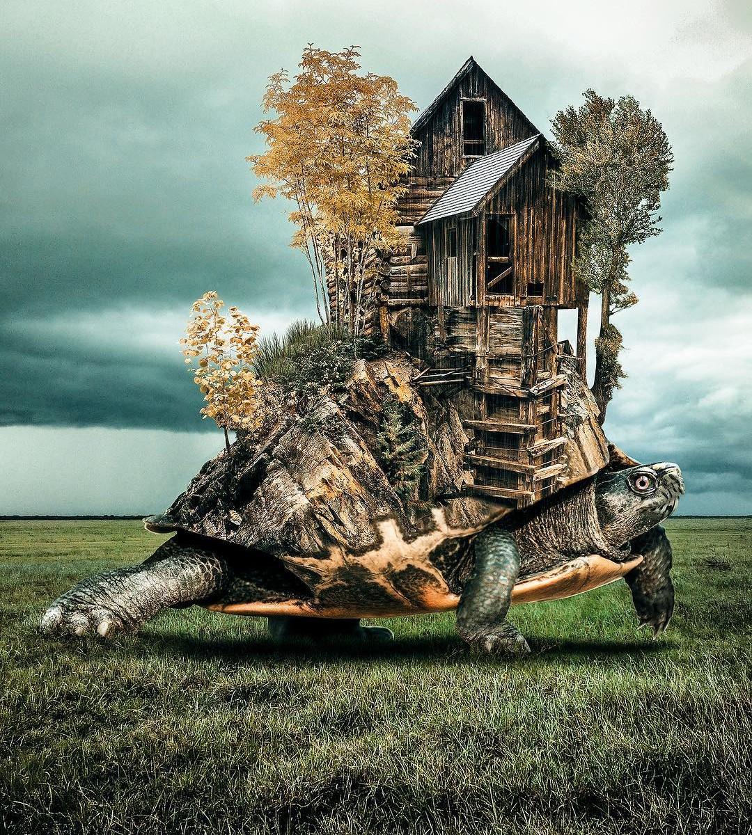 Хусейн Сахин. Цветные сны. Фотографии. Коллаж. Сюр.