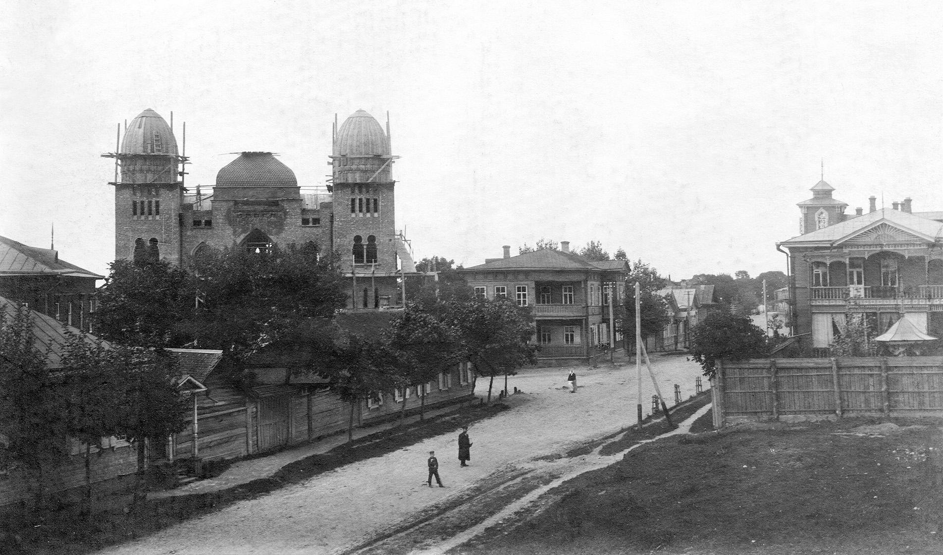 Хоральная синагога на завершающем этапе строительства. 1910
