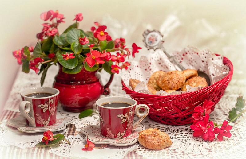 утро...кофе...печенюшки...