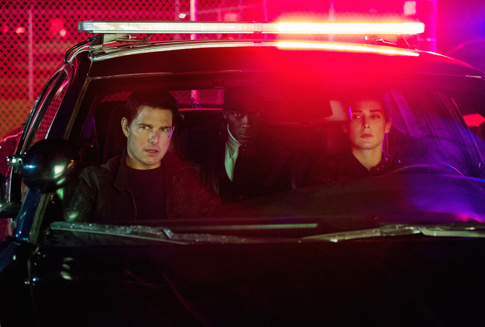 Left to right: Tom Cruise plays Jack Reacher, Aldis Hodge plays Espin and Cobie Smulders plays Turner in Jack Reacher: Never Go Back from Paramount Pictures and Skydance Productions