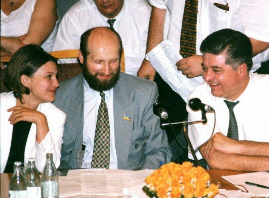 Юлия Тимошенко, Александр Турчинов, Павел Лазаренко 1996 год.jpg