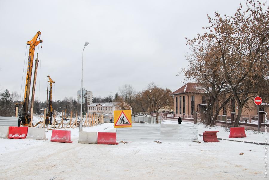 баррикады на улице города