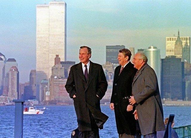 Джордж Буш старший, Рональд Рейган и Михаил Горбачев