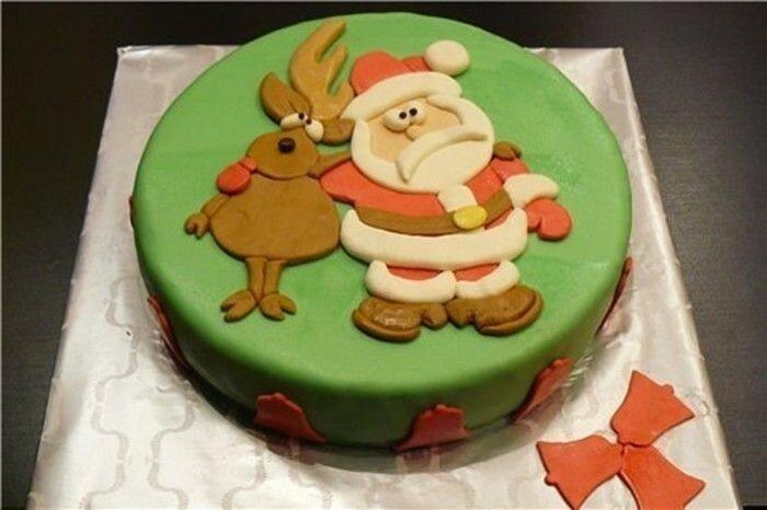 Идея! Как украсить торты на Новый год и Рождество