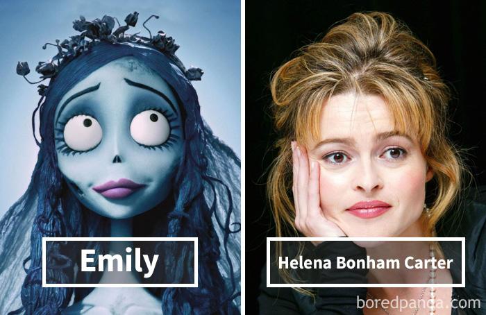 Эмили («Труп невесты») — Хелена Бонэм Картер.