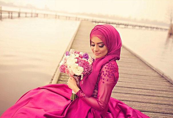 Ослепительно красивые невесты в хиджабах (22 фото)