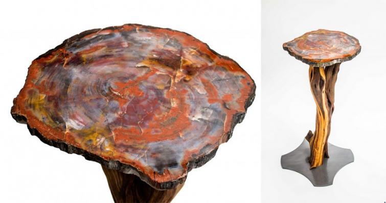23. Стол из окаменевшего дерева
